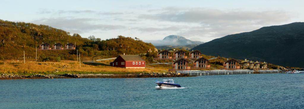 Mikkelvik Meeresangelcamp Tromsö, Nord-Norwegen