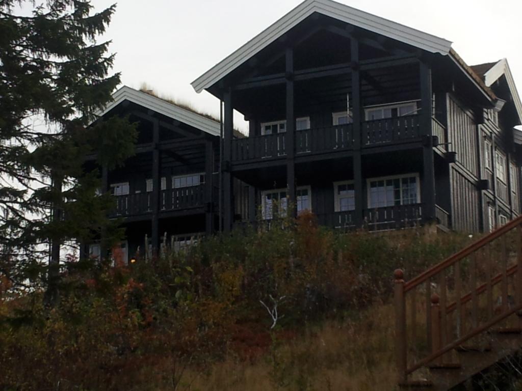 Typischer Hausbau des estnischen Holzhaus-Bauunternehmens
