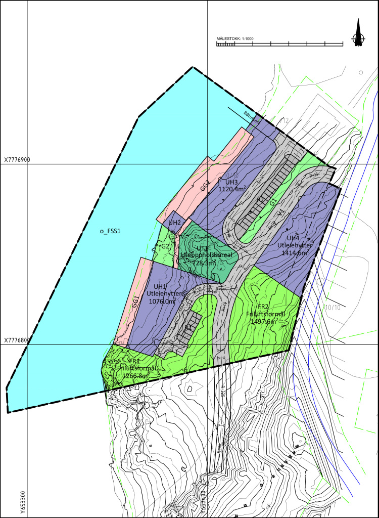 Regulierung Bauplan von Mikkelvik