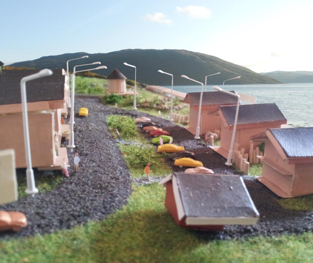 Nordseite und Ausblick der Angelanlage in Mikkelvik, Norwegen