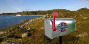 Bald steht er auch wirklich, der Briefkasten der schönsten Angel- und Urlaubsanlage in Mikkelvik