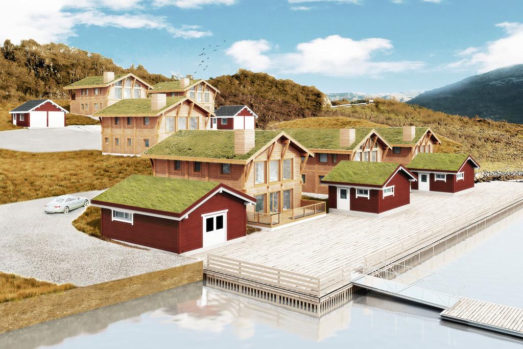 3D Vorschau auf die Meeresngel-Anlage in Mikkelvik, Nord-Norwegen