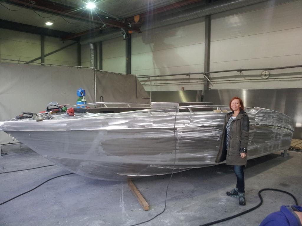 Ein Rohkörper unserer neuen Hochsee-Boote in der Fertigung